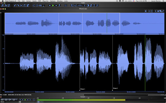Bias Peak Pro Express 6 audio editor Mac-re