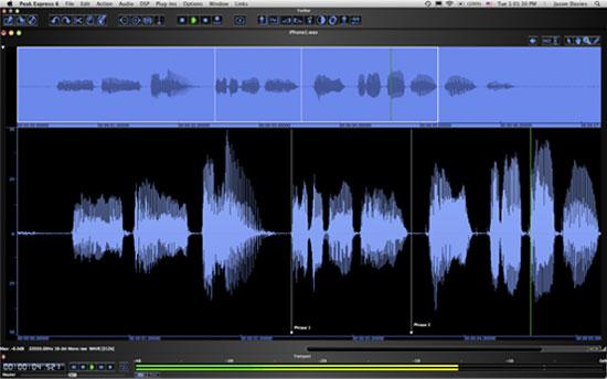 Bias Peak Pro Express 6 audio editor Mac-re